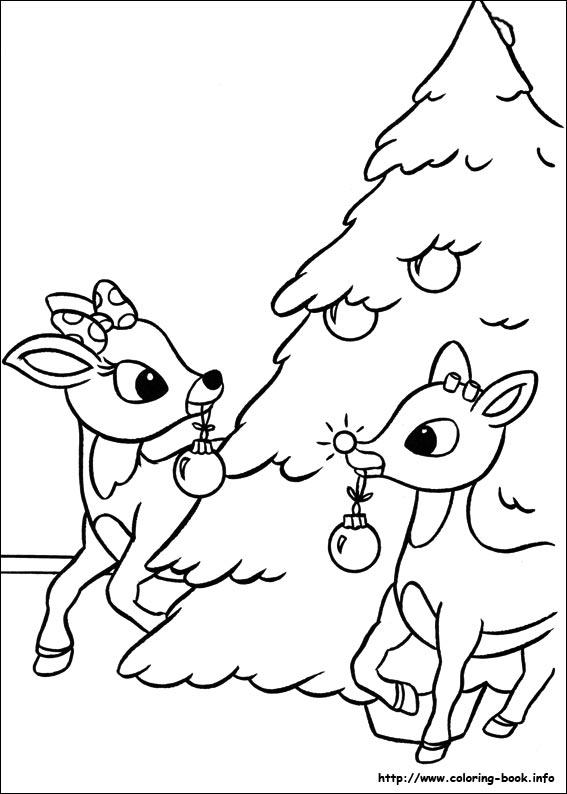 santa claus and reindeer coloring pages at getdrawings