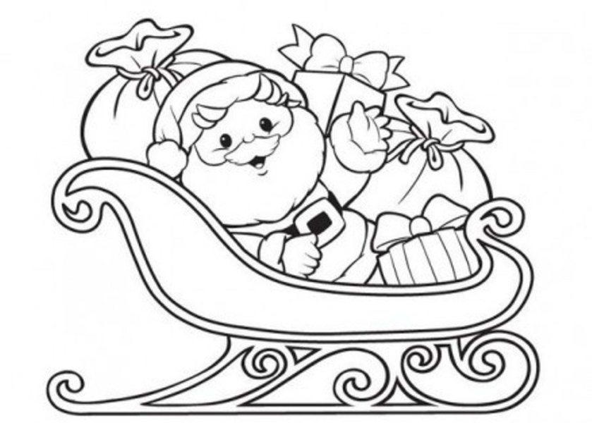 santa claus coloring christmas coloring pages