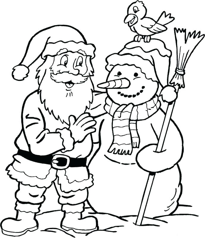 santa claus coloring page pages of is g to town father free
