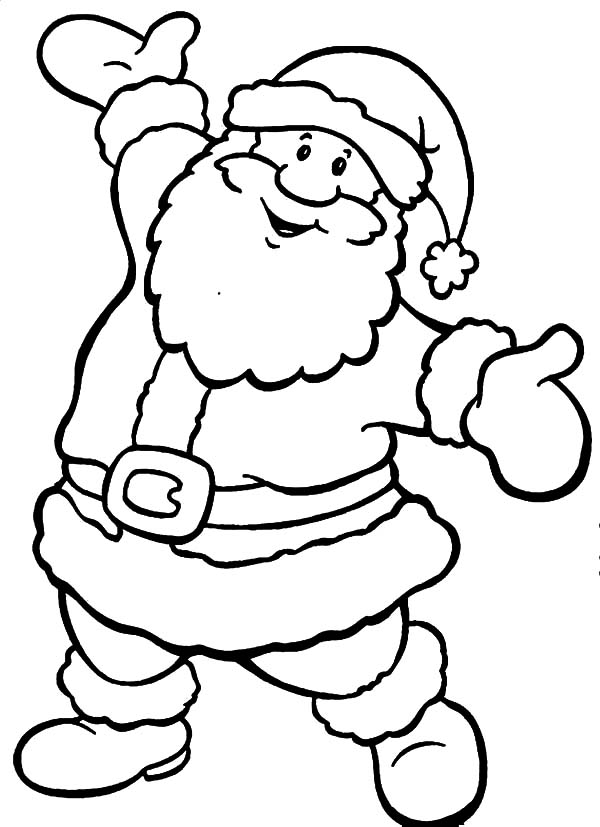 santa claus pictures to color christmas coloring pages