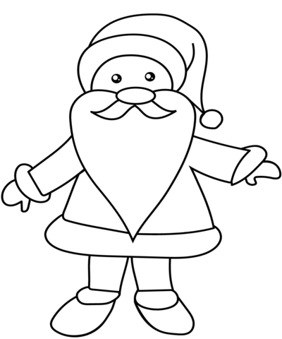 santa coloring page free printable coloring pages