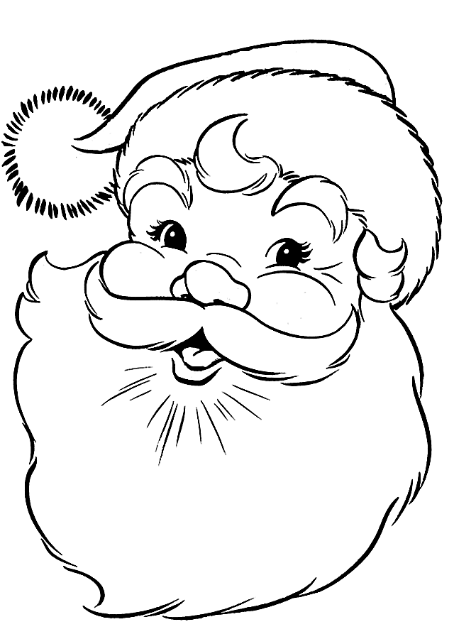 santa coloring sheet christmas coloring pages
