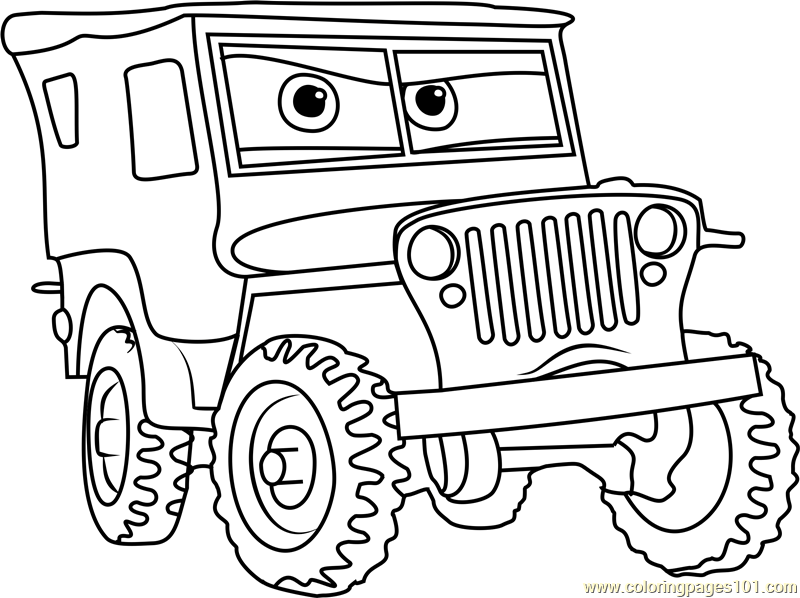 sarge from cars 3 coloring page free cars 3 coloring pages