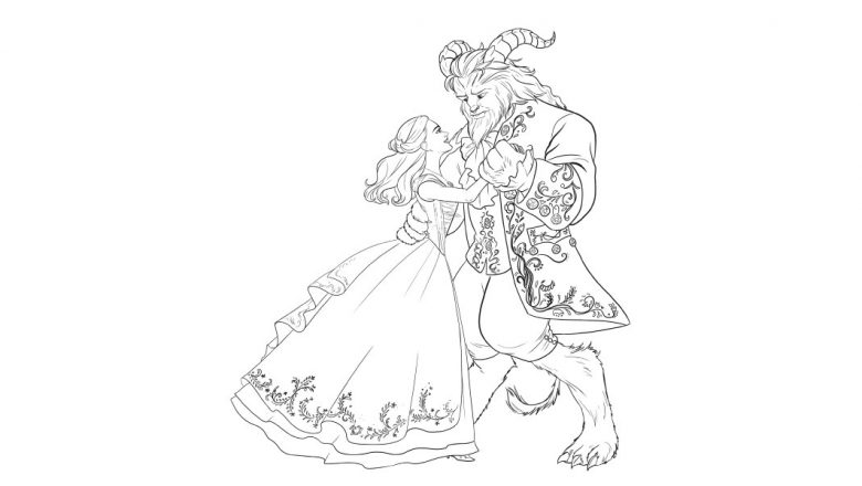 say bonjour to these beauty and the beast coloring pages