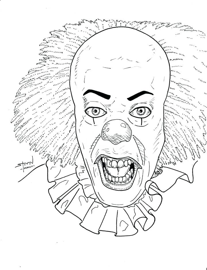 scary coloring pages for adults at getdrawings free