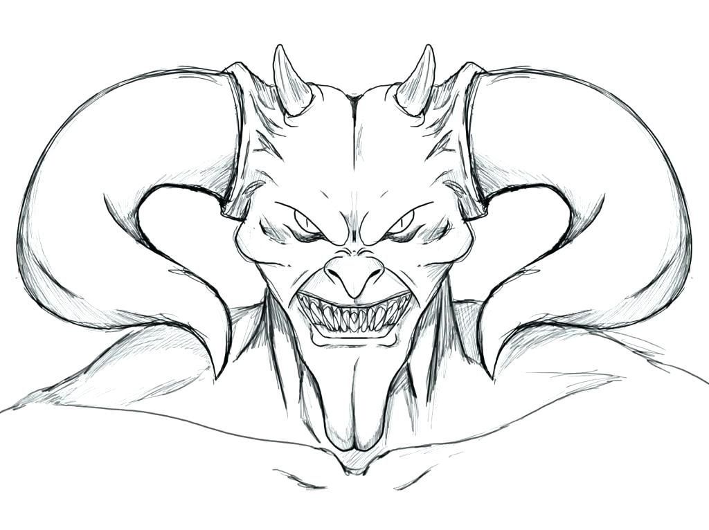 Scary Coloring Pages Picture Whitesbelfast