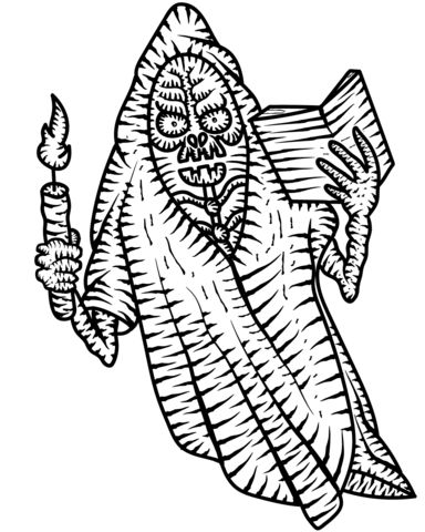scary ghost coloring page free printable coloring pages