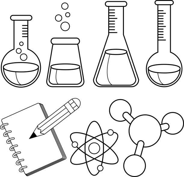 science coloring pages chemie deckblatt chemieunterricht