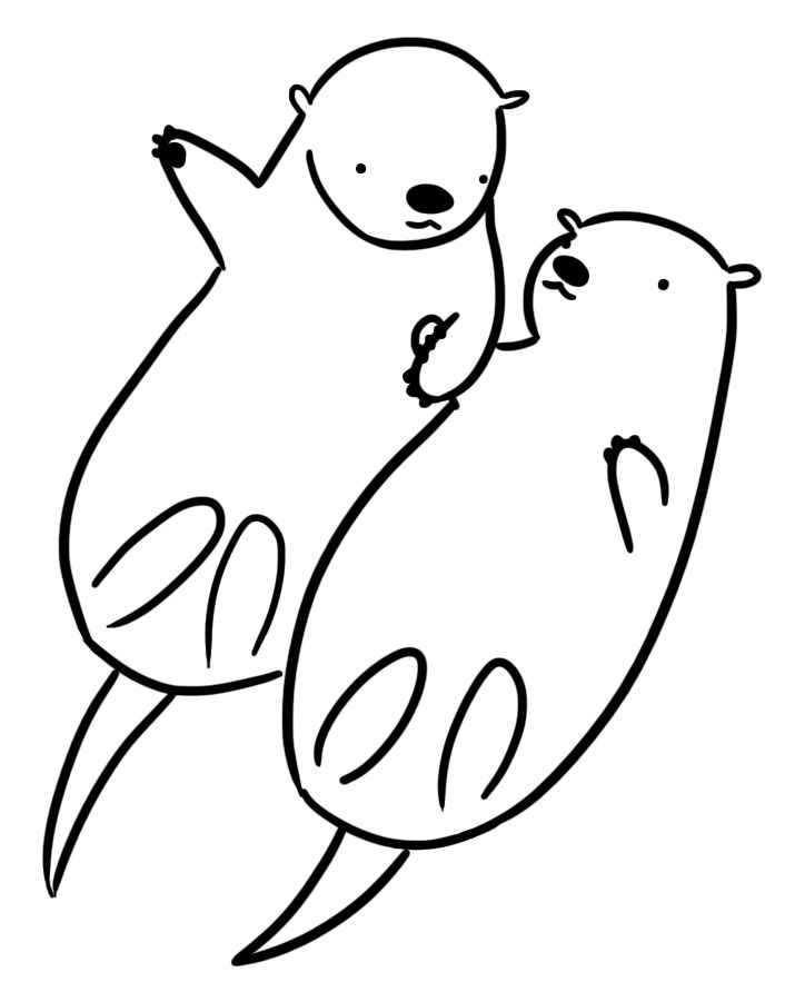 sea otter coloring pages ba sea otter colouring pages