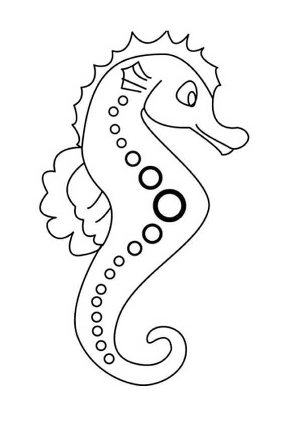 seahorse coloring pages hellokids