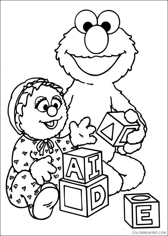 sesame street coloring pages alphabet coloring4free