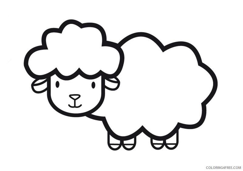 sheep coloring pages for toddler coloring4free