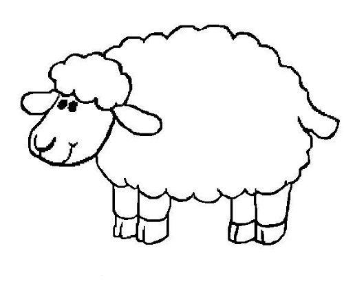 sheep coloring pages preschool sheep drawing sheep