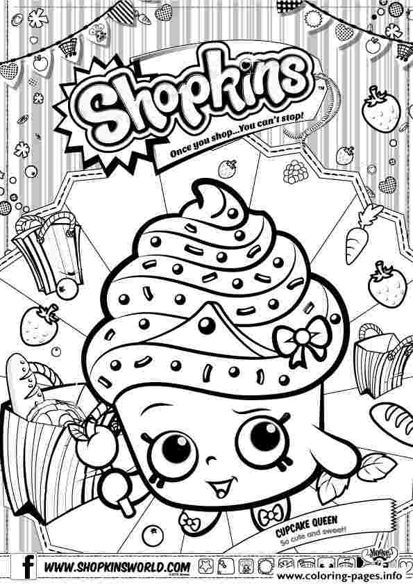 shopkins coloring pages cupcake shopkins cupcake queen