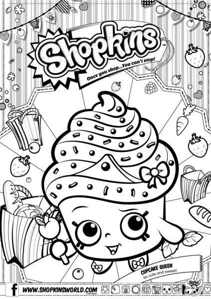 shopkins coloring pages season 1 cupcake queen shopkins