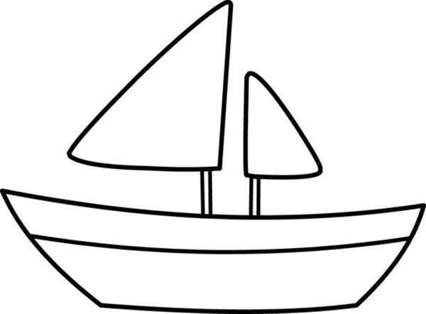 simple boat coloring pages
