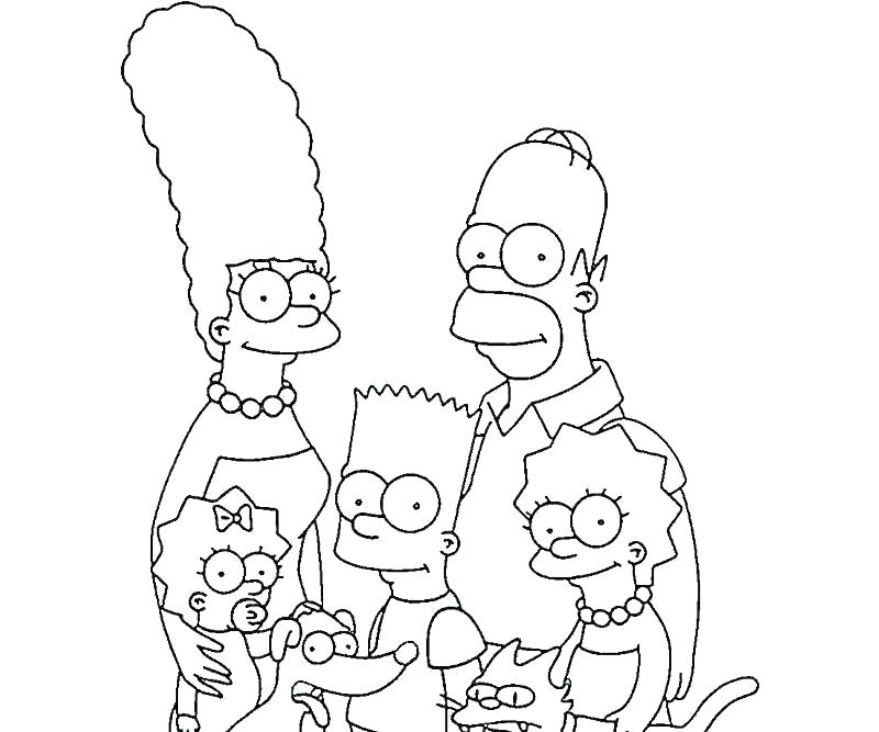 simpson coloring pages marge colouring homer xinloclub