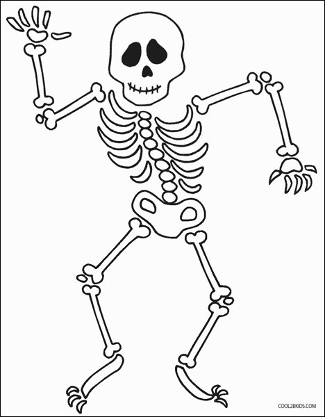 skeleton coloring picture new stock free printable skeleton
