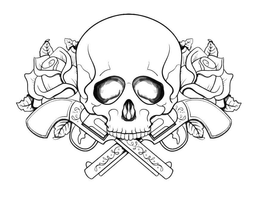 skull coloring pages for adults best coloring pages for kids