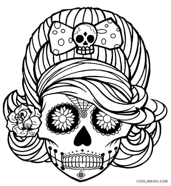 skull designs coloring pages da de los muertos sugar skull