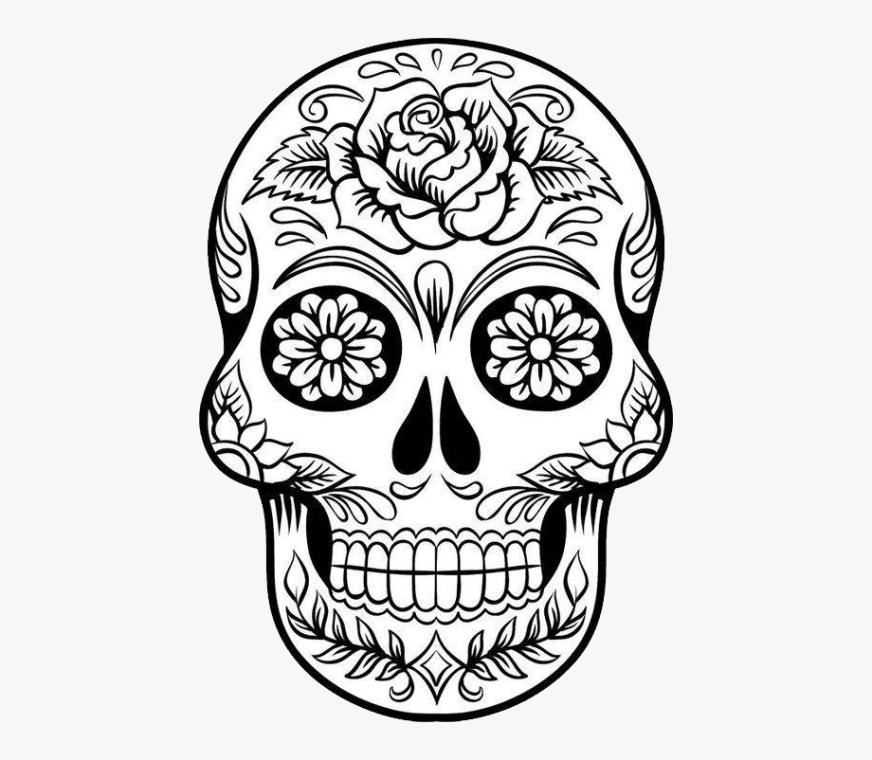 skulls printable sugar skull colouring pages cliparts