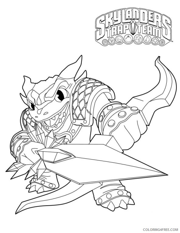 skylanders coloring pages trap team snap shot coloring4free