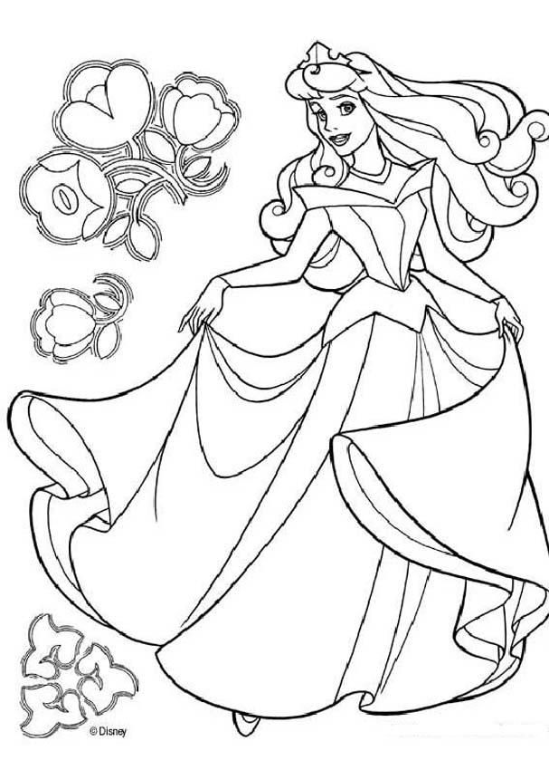 sleeping beauty coloring pages princess aurora dancing