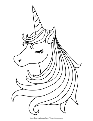 sleeping unicorn coloring page coloring page free