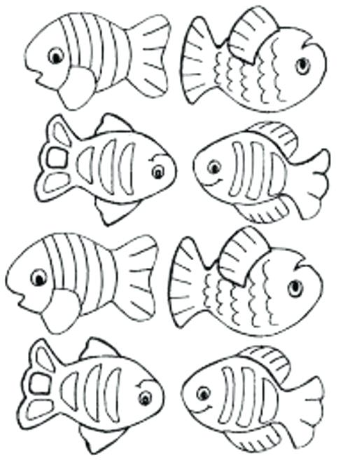 small fish coloring pages