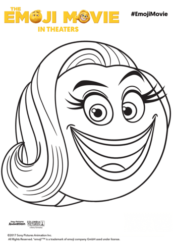smiler emoji coloring page free printable coloring pages
