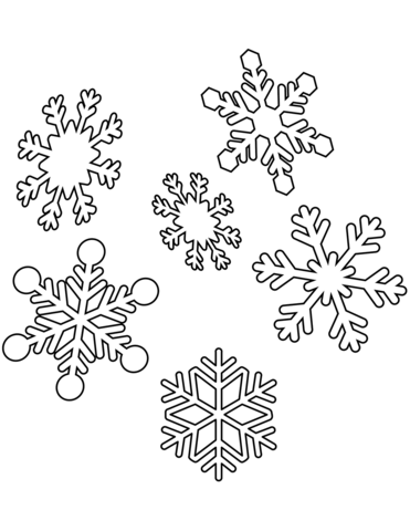 snowflakes coloring page free printable coloring pages