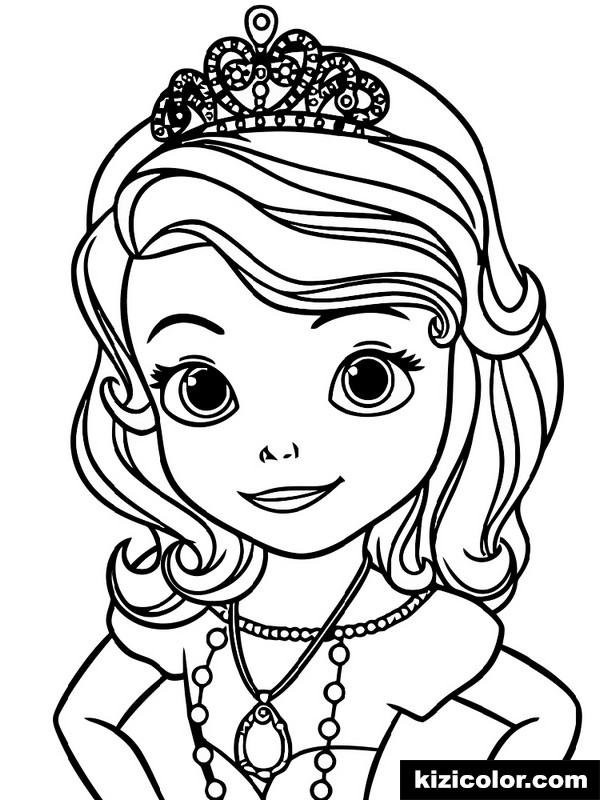 sofia the first 8 kizi free coloring pages for children