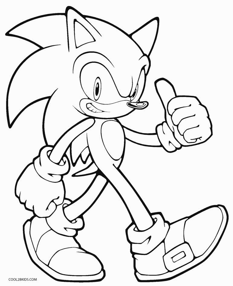 Sonic Coloring Pages Ideas - Whitesbelfast