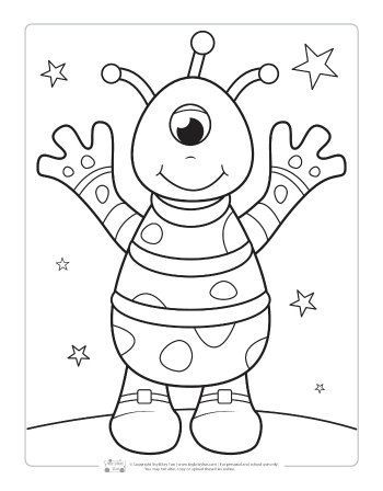 space coloring pages for kids space coloring pages