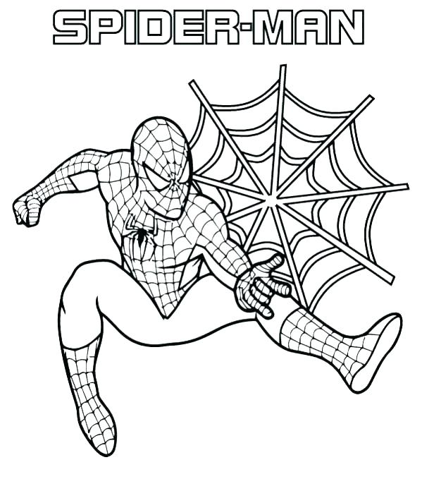 spiderman coloring pages easy