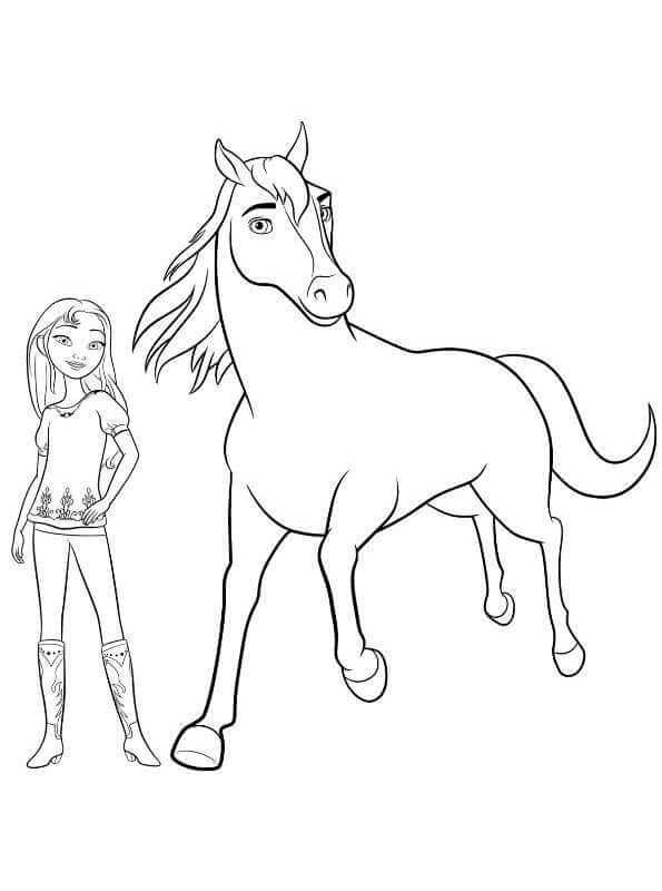 spirit and lucky coloring page ausmalbilder pferde