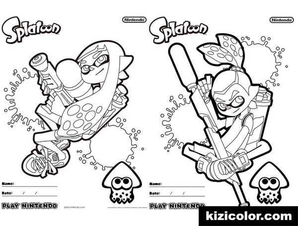splatoon free printable coloring pages for girls and boys