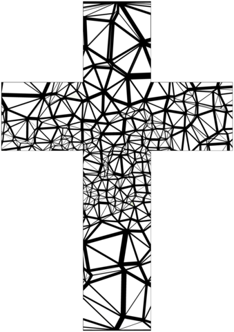 stained glass abstract cross omalovnka free printable