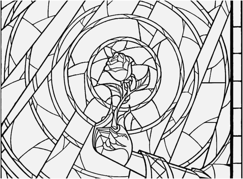 stained glass window coloring pages picture window beauty