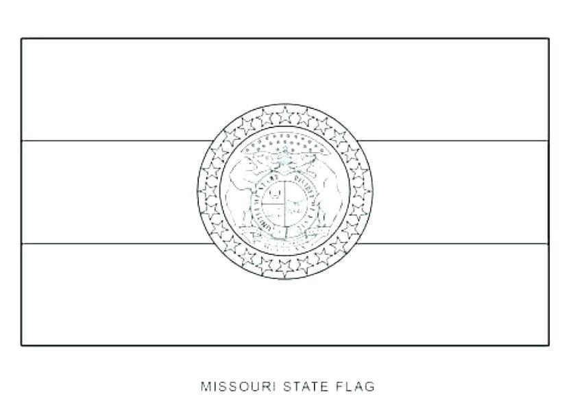 state flag coloring page pages bible missouri home antidiler