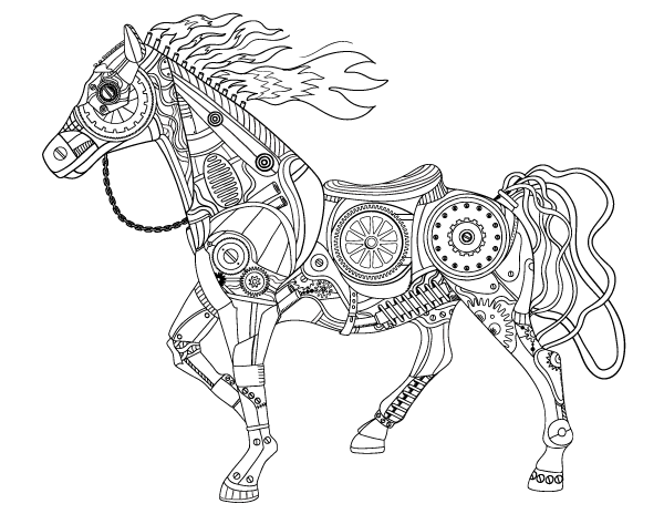 steampunk coloring pages at getdrawings free for