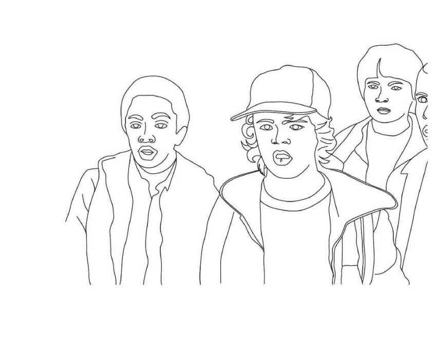 stranger things coloring pages free