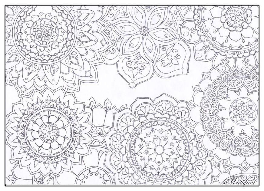 stress relief mandala flowers mandala malvorlagen