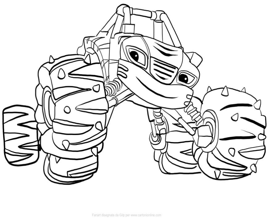 stripes of blaze and the monster machines coloring pages