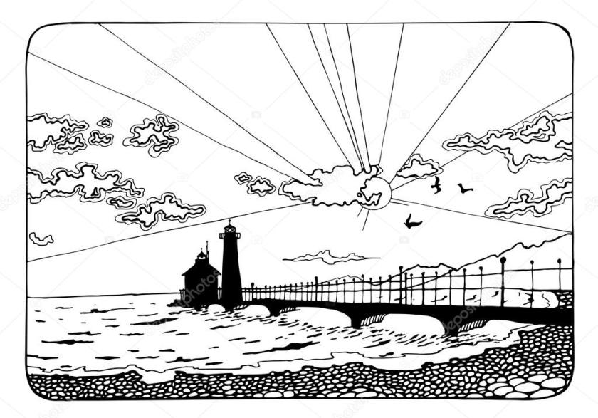 sunset coloring pages coloring page with sunset and the