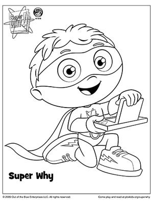 super why coloring book pages coloring page for kids