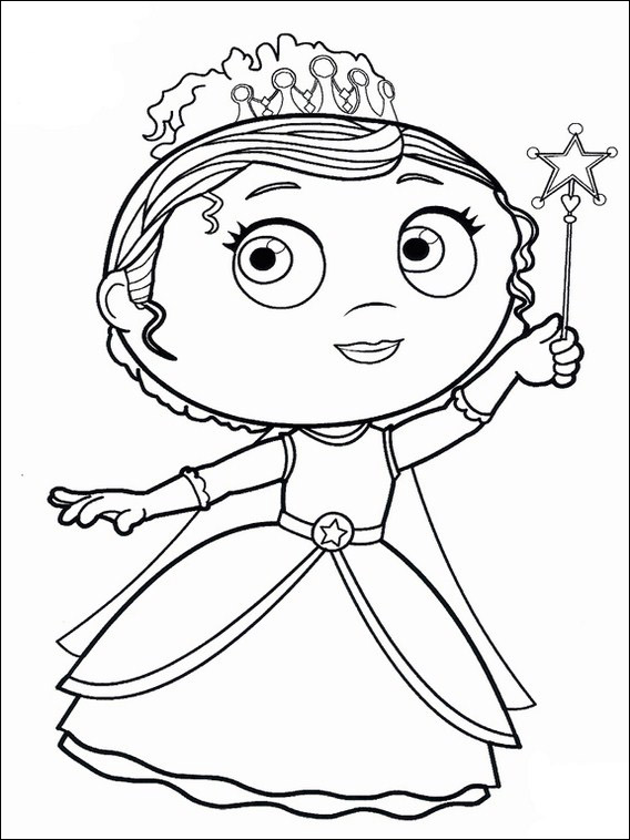 super why colouring 6
