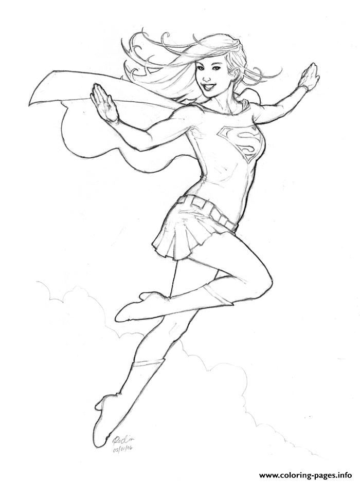supergirl 8 coloring pages printable
