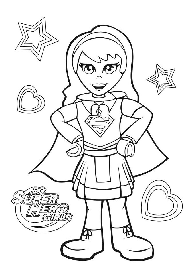 supergirl coloring page free printable coloring pages for kids