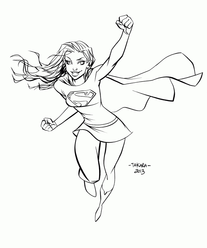 supergirl coloring pages at getdrawings free for